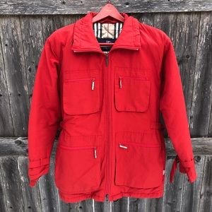 BURBERRY Authentic Rustic Campfire Red Coat